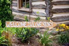 great sign! - http://ncweddingministerblog.blogspot.com/2014/09/janet-and-gideon-celebrate-love-joy-and.html