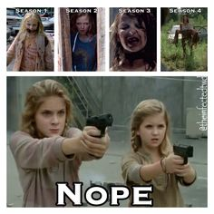 The walking dead just LOVES torturing little girls EHH HEM. Sophia penny random girl, and I forgot the last girls name... was it Megan? Ugh I can't remember. And Judith. LIZZIE AND MIKA BETTER NOT DIE