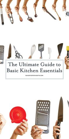 Before you get started cooking, make sure you have all the basics. This list of Kitchen Essentials is great for registries, new home gifts and even perfect for college grads! #kitchenessentials #kitchentools www.savoryexperiments.com