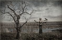 Witch, a tree and a raven by Leruana S, via 500px