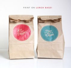 DIY----Printing on Brown Paper Bags, found on Pinterest
