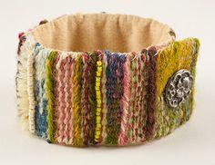 Tapestry Weaving on the MirrixLoom - Wooly bracelet