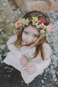 floral wreath flower girl // photo by Chellise Michael
