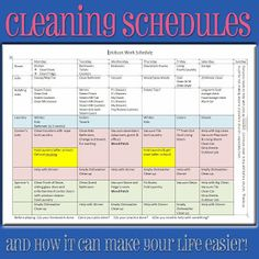 Want the peace of knowing everything will get clean?  I need it, so I made this schedule!