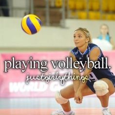 I love playing volleyball