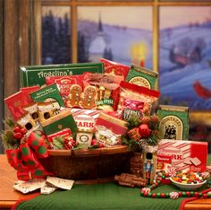 Celebrate a simpler time and bring back memories of holidays past when you send them this Heartwarming Holiday Gourmet. Filled with old fashioned delectable treats the unique container made of real tree bark is sure to be used year after year during all holiday festivities. A gift that keeps on giving.