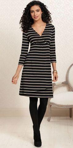 Good As Golden: #Soma Elise Dress in Energy Stripe #SomaIntimates #black #gold