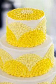 Torta de casamiento en amarillo | Bolo de casamento amarelo | Yellow wedding cake