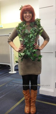 Last-Minute Poison Ivy Halloween Costume... This website is the Pinterest of costumes