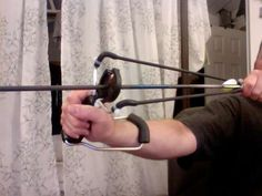 Tom's new project... Sling Shot Bow and Arrow