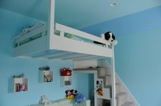 Loft Bed with a place to play underneath.  Won't have to fight over who sleeps on the top bunk!