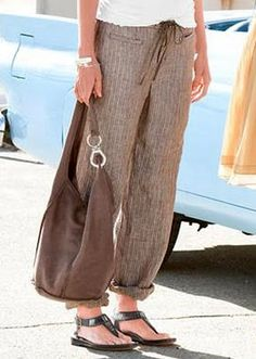 sew, bag, linen pant, thread, stylish clothes, linens, shoe, comfi pant, style fashion