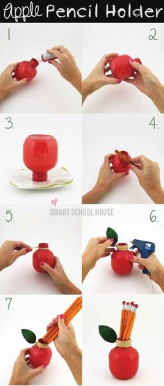 Apple Pencil Holder | 37 Awesome DIYs To Make Before School Starts