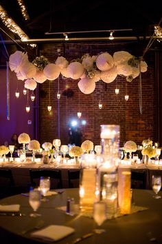 White wedding reception decor {Photo by My Life Photography via Project Wedding}