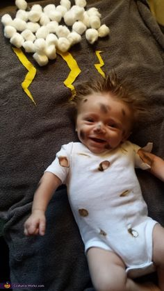 Struck by Lightning Baby Halloween Costume