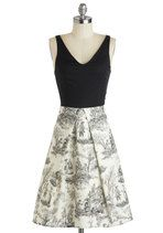 Stir Up the Party Dress in Skeleton Toile