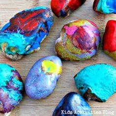 Make Melted Crayon Art With Hot Rocks From Kids Activities Blog - BonBon Break