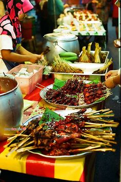 To me, Malaysia is all about the diversity of cultures mixing together so well, this pic shows that through the street food, which is a range of foods from different ethnicity's, and enjoyed by everyone, a very social and yummy way to eat meals....You may find this at khaogali.com