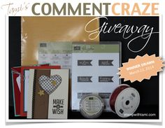 WIN! New Comment Craze 'Blog Candy' thru March 22 | Stampin Up Demonstrator - Tami White - Stamp With Tami Stampin Up blog