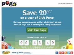 In this email, Pogo used a live countdown timer to show how much time was left until the end of a subscription sale. #emailmarketing #countdowntimer #retail #realtime