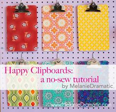 Happy Clipboards: a no-sew tutorial