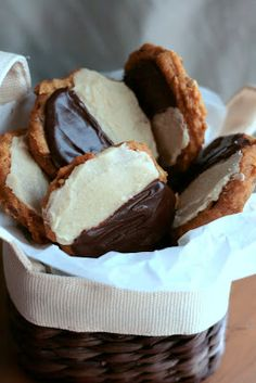 Caramel Pumpkin Black and White Cookies by @Ellen B. (indigoscones)