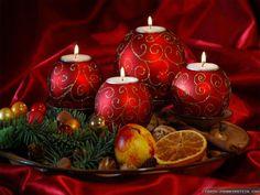 Christmas ball candle tray