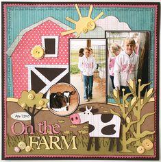 craft, scrapbook layouts, farms, farmlayout scrapbook, the farm