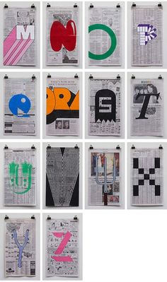 typography : The Art Room: Year 8 HW: Using newspaper / marker pens / collage / paint......make your own design sheet in the style of Phil Yamada. See examples below.