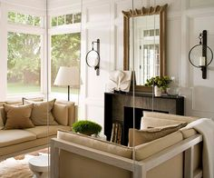 This neutral porch is anything but ordinary. More design ideas: http://www.bhg.com/home-improvement/porch/porch/indoor-porches-youll-love/?socsrc=bhgpin051012