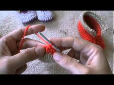 ▶ crochet double faces booties part one - YouTube