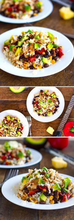 SPICY FISH TACO bowls, sub quinoa in