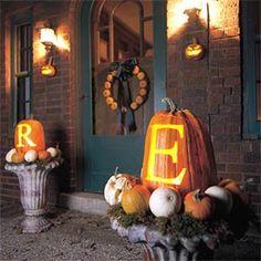 Monogram pumpkins
