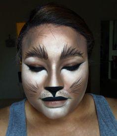 Lioness/Cat Halloween Makeup #Halloween #cat #makeup #lion #lioness