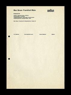 Letterhead design for Braun by ryangerald, via Flickr