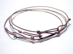 Three Fused Copper Linked Bangles Unisex by Solden on Etsy, rustic
