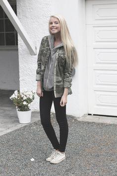 camo... white convers, fashion, cloth, style, winter outfit, jackets, closet, black jeans, camo jacket