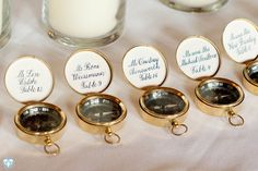 Compass table markers #wedding