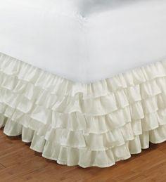 Multi-Layered Cotton Ruffle Bed Skirt