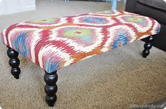 How to upholster a bench.