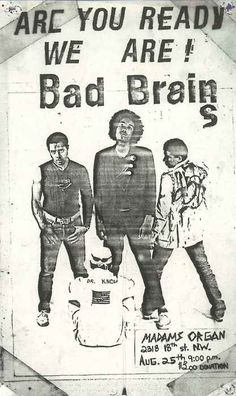Bad Brains   35 Old Punk Flyers That Prove Punk Used To Be So Cool