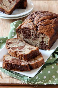 Marbled Chocolate Banana Bread - bakedbyrachel.com