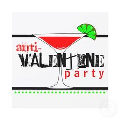 Anti Valentine party cards