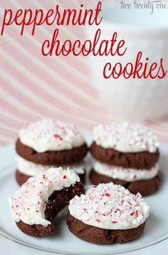 Delicious and easy to make peppermint chocolate cookies! @Chelsea Rose | two twenty one