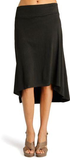 Flattering fluttery skirt.