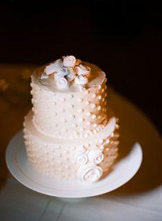 Swiss dot wedding cake!