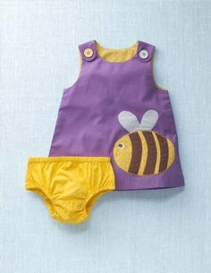 Mini Boden applique pinafore set- 25% off today.  Too sweet.