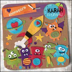 I Heart Monsters - feltie elements by Karah Fredricks ... Digital Scrapbooking