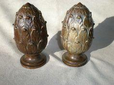 bronze finials