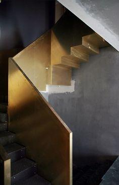 Golden Interior. Xk #kellywearstler #gold #interior #home #design